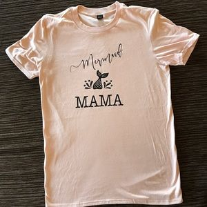 Mermaid mama pink t shirt women's unisex medium